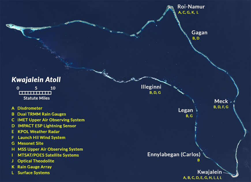 Kwajalein Atoll Map